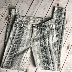 7 FOR ALL MANKIND Snake Print Jeans